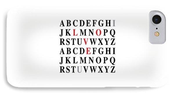 Alphabet I Love U IPhone Case