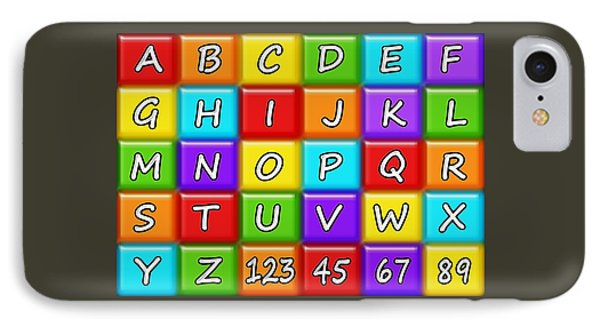 Alphabeth - Rainbow - Kids Room IPhone Case