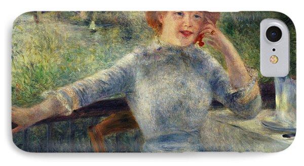 Alphonsine Fournaise Phone Case by Pierre Auguste Renoir