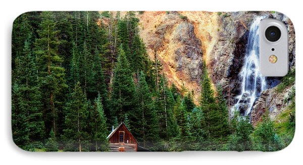 Alpine Cabin IPhone Case by Lana Trussell