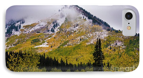 IPhone Case featuring the photograph Alpine Loop Autumn Storm - Wasatch Mountains  by Gary Whitton