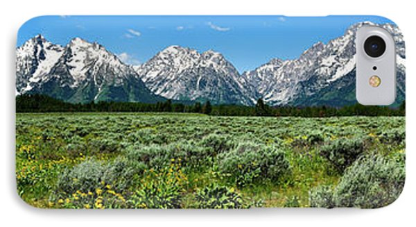 Alpine Meadow Teton Panorama II Phone Case by Greg Norrell