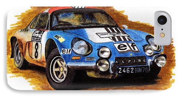 Alpine Renault A110 Jean-pierre Nicolas 1973 Phone Case by Ugo Capeto