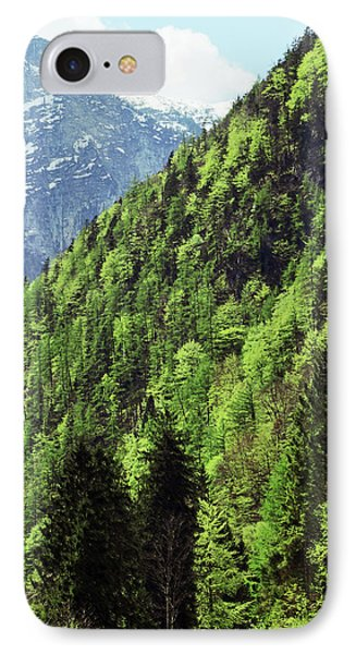 Alpine View In Green Phone Case by Brooke T Ryan