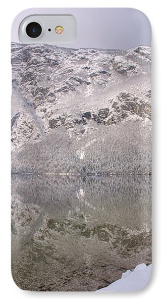 IPhone Case featuring the photograph Alpine Winter Reflections by Ian Middleton