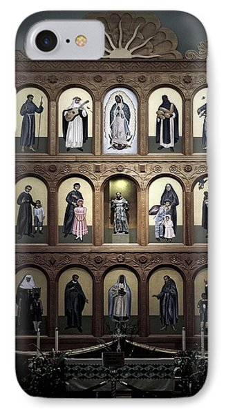 Altar Screen Cathedral Basilica Of St Francis Of Assisi Santa Fe Nm Phone Case by Christine Till