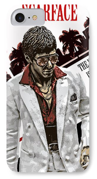Alternative Scarface Poster IPhone Case by David Djanbaz