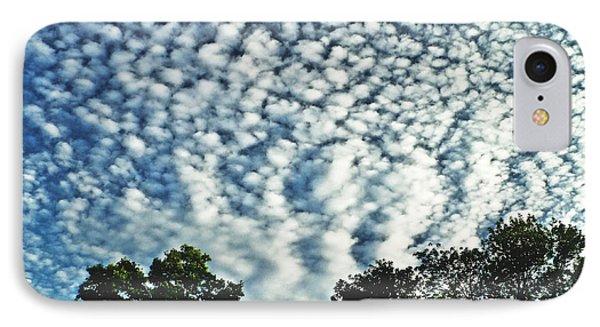 Altocumulus Mackeral Cloud Formation  IPhone Case by Carol F Austin