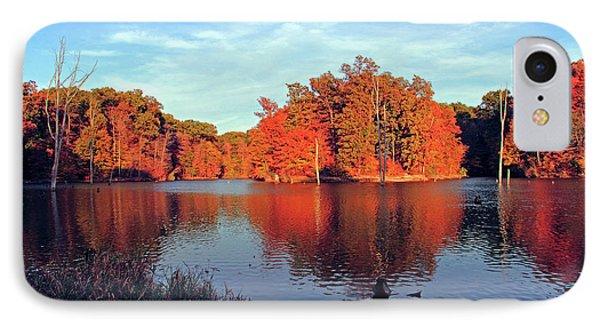 Alum Creek Landscape IPhone Case by Angela Murdock
