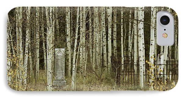 Alvarado Cemetery 42 IPhone Case by Marie Leslie