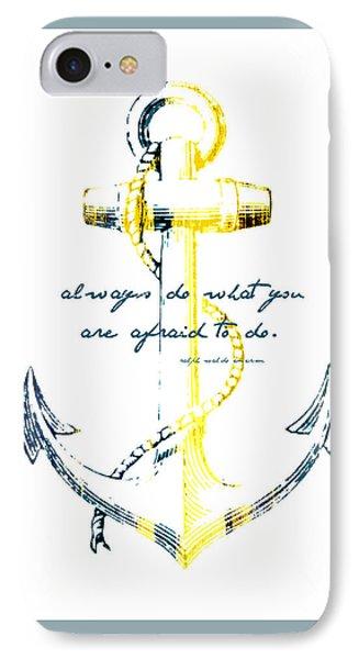 Always Do Anchor IPhone Case by Brandi Fitzgerald
