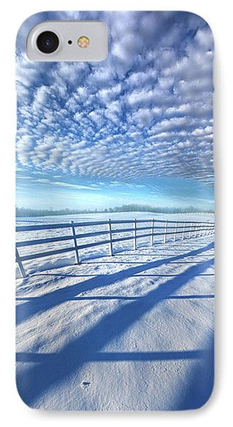 IPhone Case featuring the photograph Always Whiter On The Other Side Of The Fence by Phil Koch