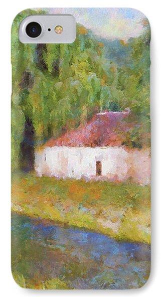 IPhone Case featuring the painting Am Fluss In Sentfenberg Wachau by Menega Sabidussi
