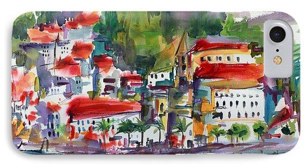 Amalfi Coast Italy Expressive Watercolor IPhone Case