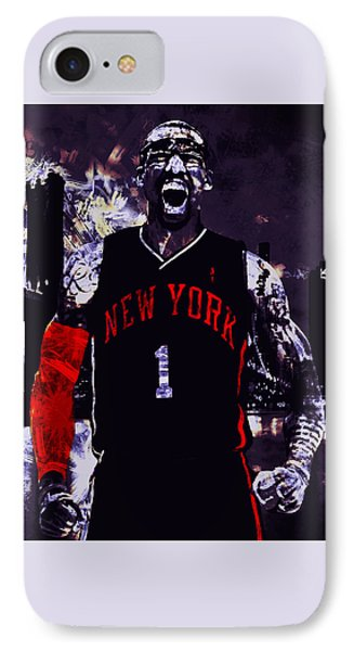 Amare Stoudemire  On Fire IPhone Case by Brian Reaves