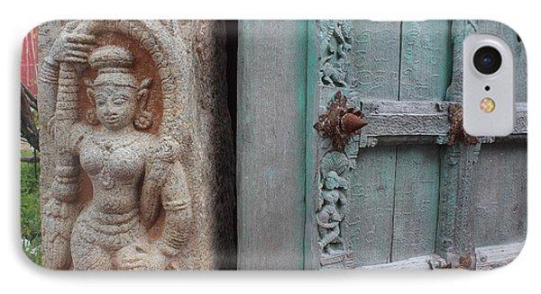 Amazing Door And Column, Fort Kochi IPhone Case