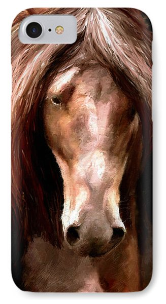 IPhone Case featuring the painting Amazing Horse by James Shepherd