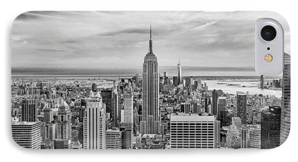Amazing Manhattan Bw IPhone Case by Az Jackson