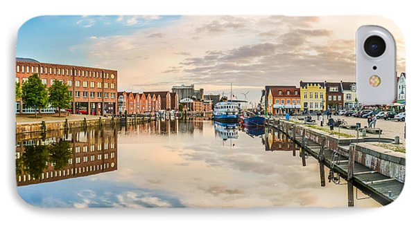 Amazing Reflections In The German North Sea Town Of Husum IPhone Case by JR Photography