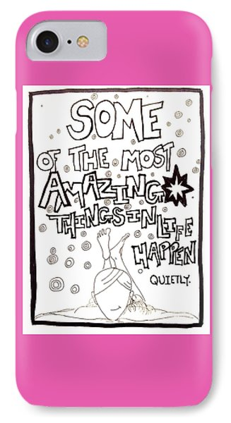 Amazing Things IPhone Case by Sara Young