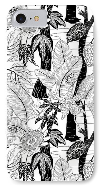Amazon Black And White IPhone Case by Jacqueline Colley