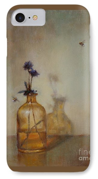 Amber Bottle And Bees  IPhone Case by Lori  McNee