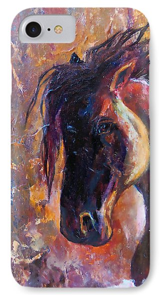 IPhone Case featuring the painting Amber Dawn by Karen Kennedy Chatham