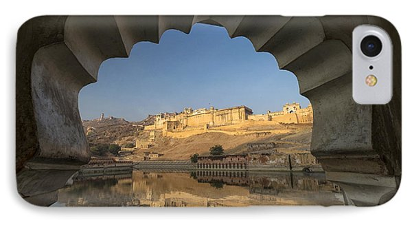 IPhone Case featuring the photograph Amber Fort Reflection by Yew Kwang