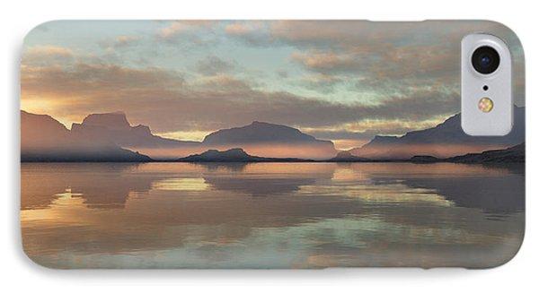 IPhone Case featuring the digital art Salmon Lake Sunrise by Mark Greenberg