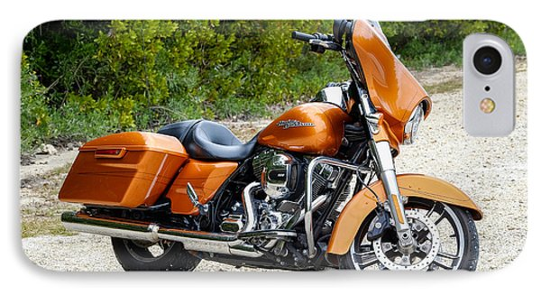 Amber Whiskey Street Glide IPhone Case by John McArthur