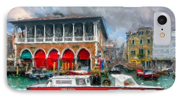 IPhone Case featuring the photograph Ambulanza. Venezia by Juan Carlos Ferro Duque