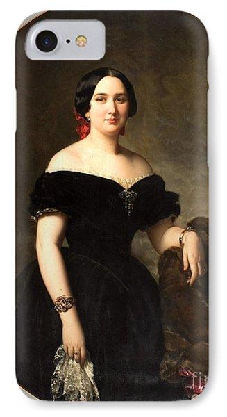 Amelia De Vilanova I Nadal IPhone Case by MotionAge Designs
