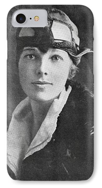 Amelia Earhart, Us Aviation Pioneer Phone Case by Science, Industry & Business Librarynew York Public Library