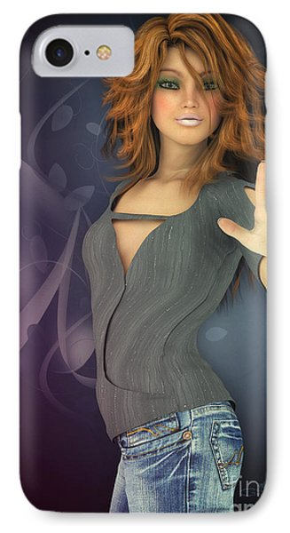 Amelie In Jeans IPhone Case by Jutta Maria Pusl