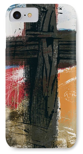 Cross iPhone 7 Case - Amen Contemporary Cross- Art By Linda Woods by Linda Woods