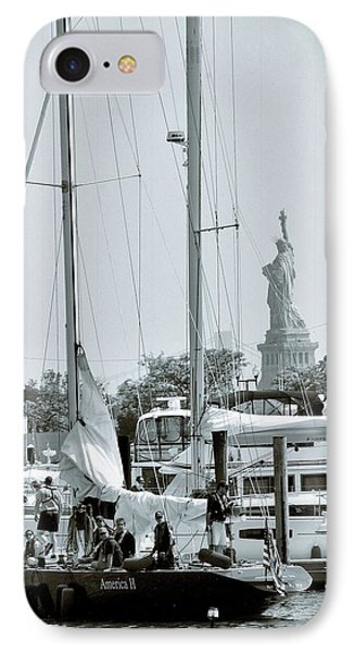 America II And The Statue Of Liberty IPhone 7 Case by Sandy Taylor