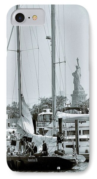 America II And The Statue Of Liberty IPhone Case by Sandy Taylor