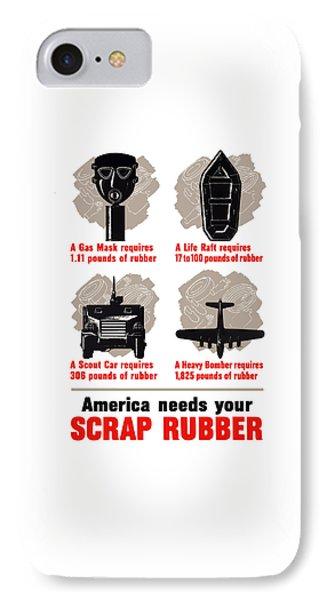 America Needs Your Scrap Rubber IPhone Case