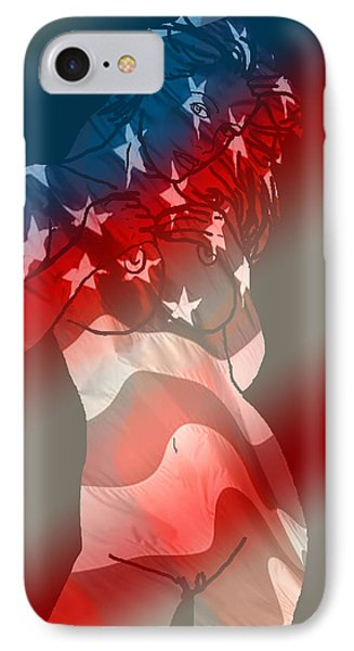 America IPhone Case by Tbone Oliver