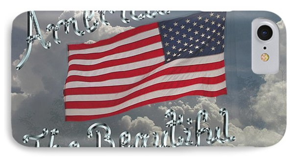 America The Beautiful IPhone Case by Kevin Caudill