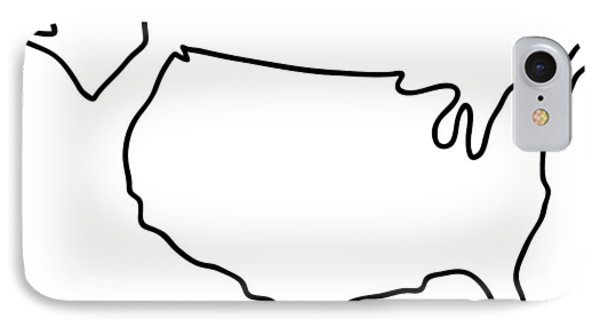 america USA map IPhone Case