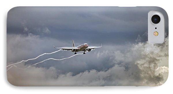American Aircraft Landing IPhone Case by Juan Carlos Ferro Duque