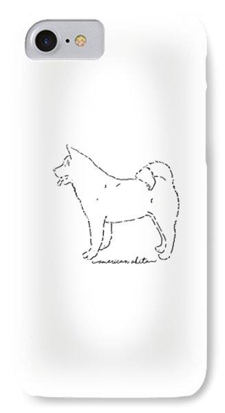 American Akita Sketch IPhone Case by Pablo Romero
