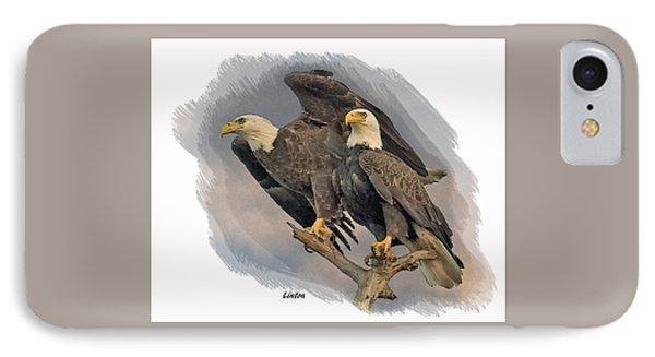 American Bald Eagle Pair IPhone Case