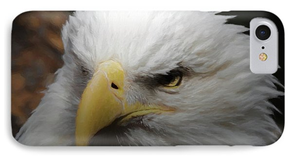 IPhone Case featuring the digital art American Bald Eagle Portrait 3 by Ernie Echols