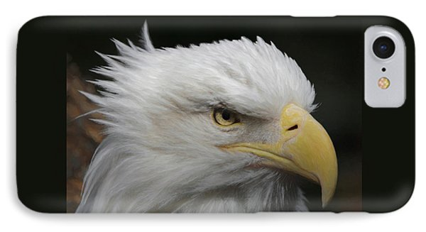 IPhone Case featuring the digital art American Bald Eagle Portrait by Ernie Echols