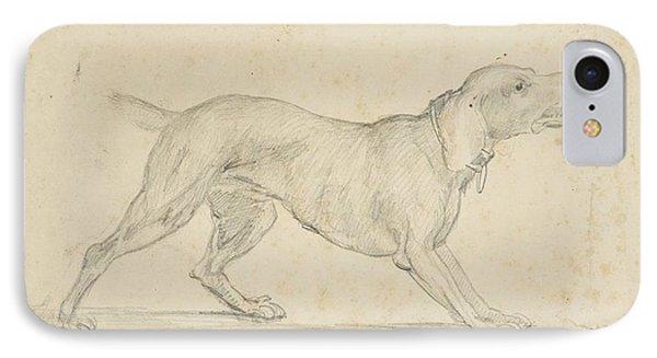 American Barking Dog In Profile IPhone Case