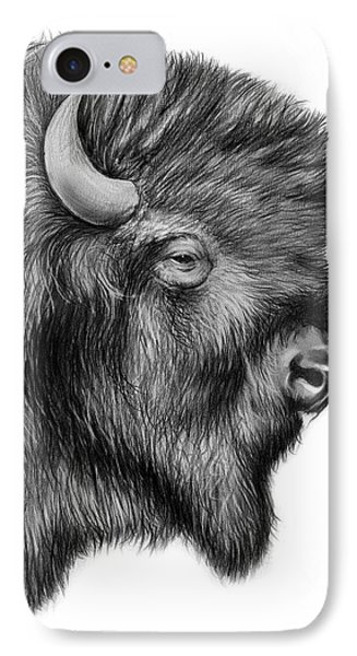 American Bison IPhone 7 Case by Greg Joens