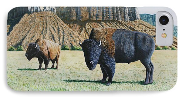 American Bison IPhone Case by Joseph Kemeny