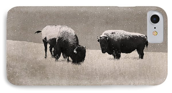 American Bison Phone Case by Ron Jones